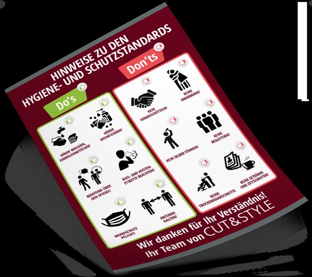 CUT & STYLE – Hinweise zu Hygiene- und Schutzstandards